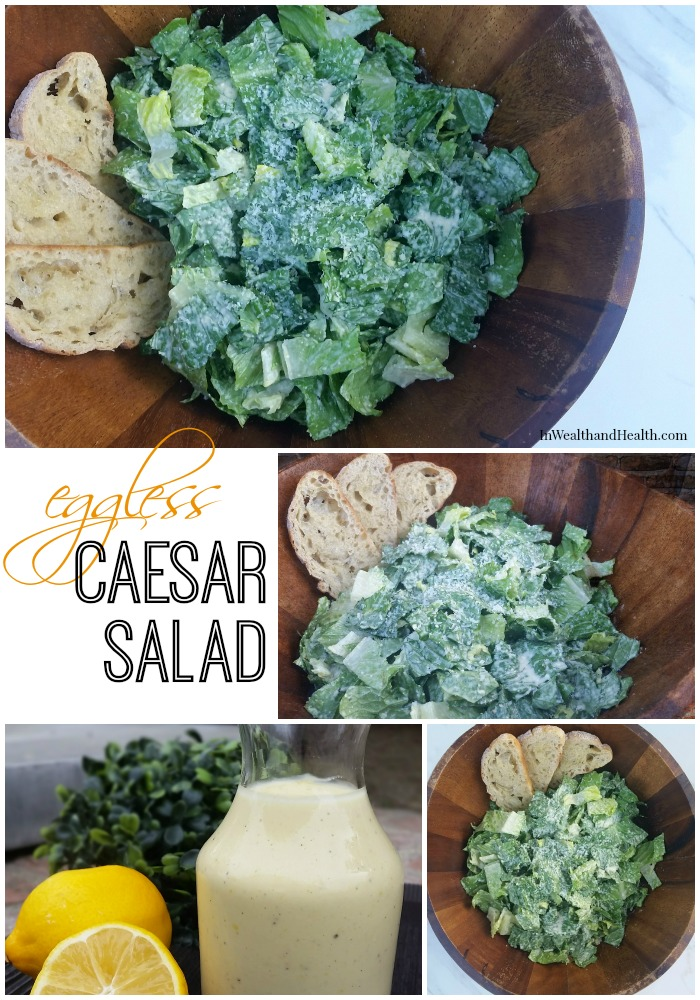 creamy caesar salad recipe | In Wealth and Health