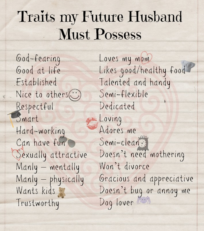 How to marry the right one at the right time. Traits my future husband must possess