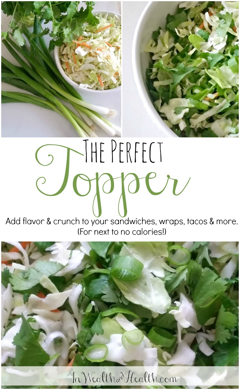 Cabbage, Cilantro & Green Onion Mix: The Perfect Topper! Add Flavor & Crunch With No Fat