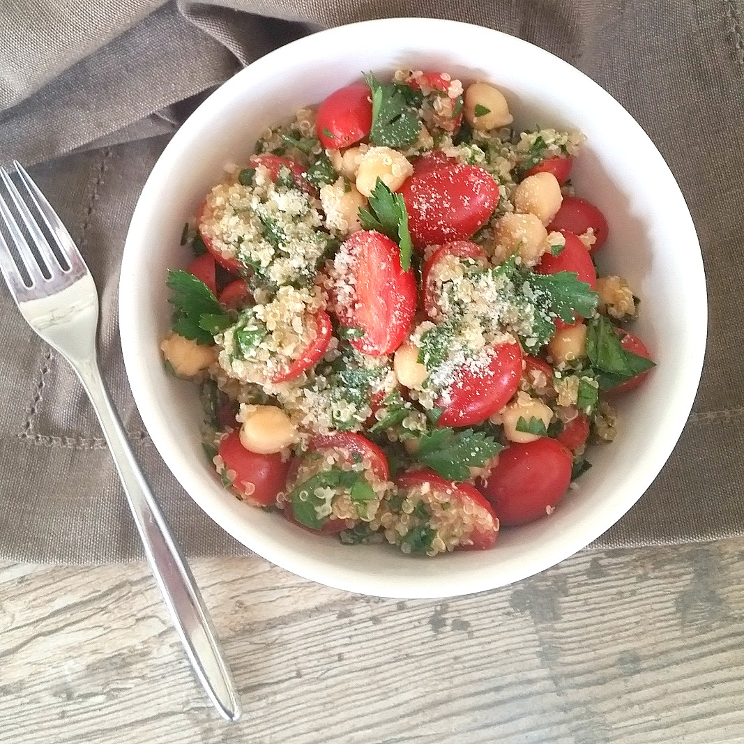 Quinoa Tabbouleh. The ideal meal for a hot summer night.