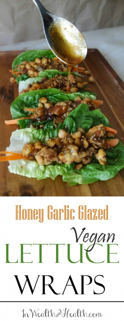 Asian-Inspired #Vegetarian Lettuce Wraps with Honey Garlic Glaze @HappyHealthyRD #vegan