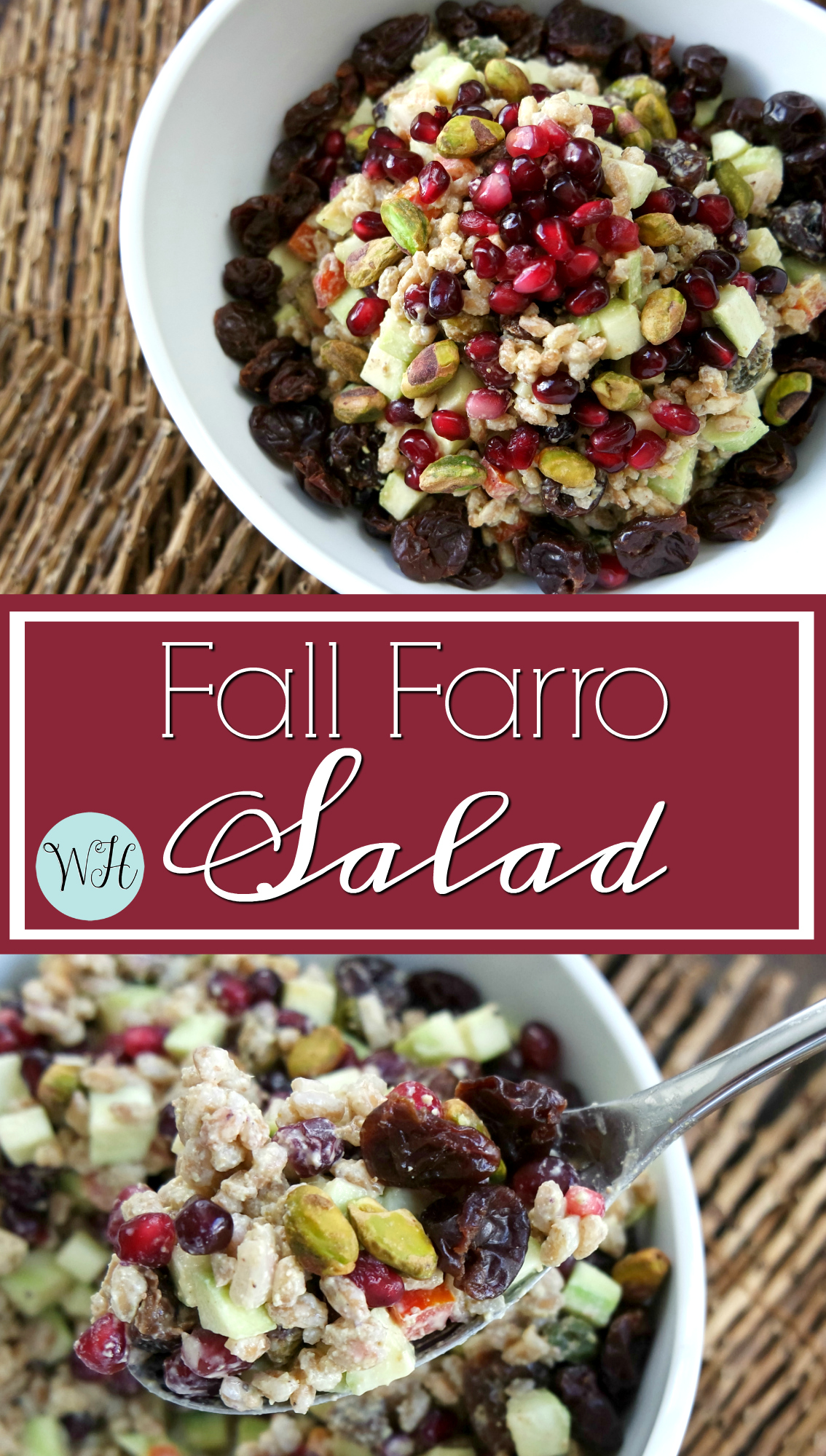 Pistachio & Pomagranate Fall #Farro Salad