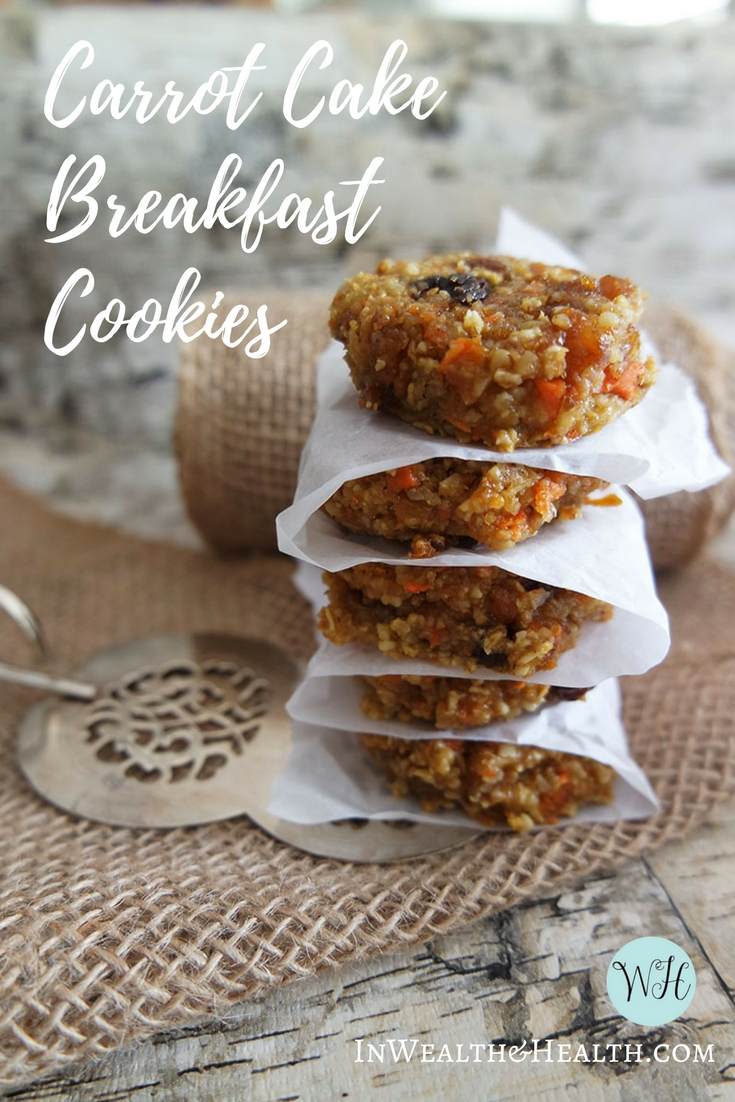 carrot cake breakfast cookies | Gluten Free | Dairy Free | LEAP approved