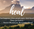 Simple and Unique Ways to Help Heal