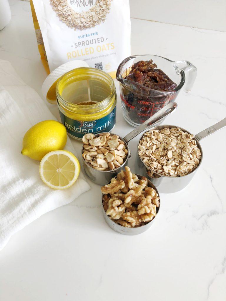 Lemon Turmeric Granola Bars