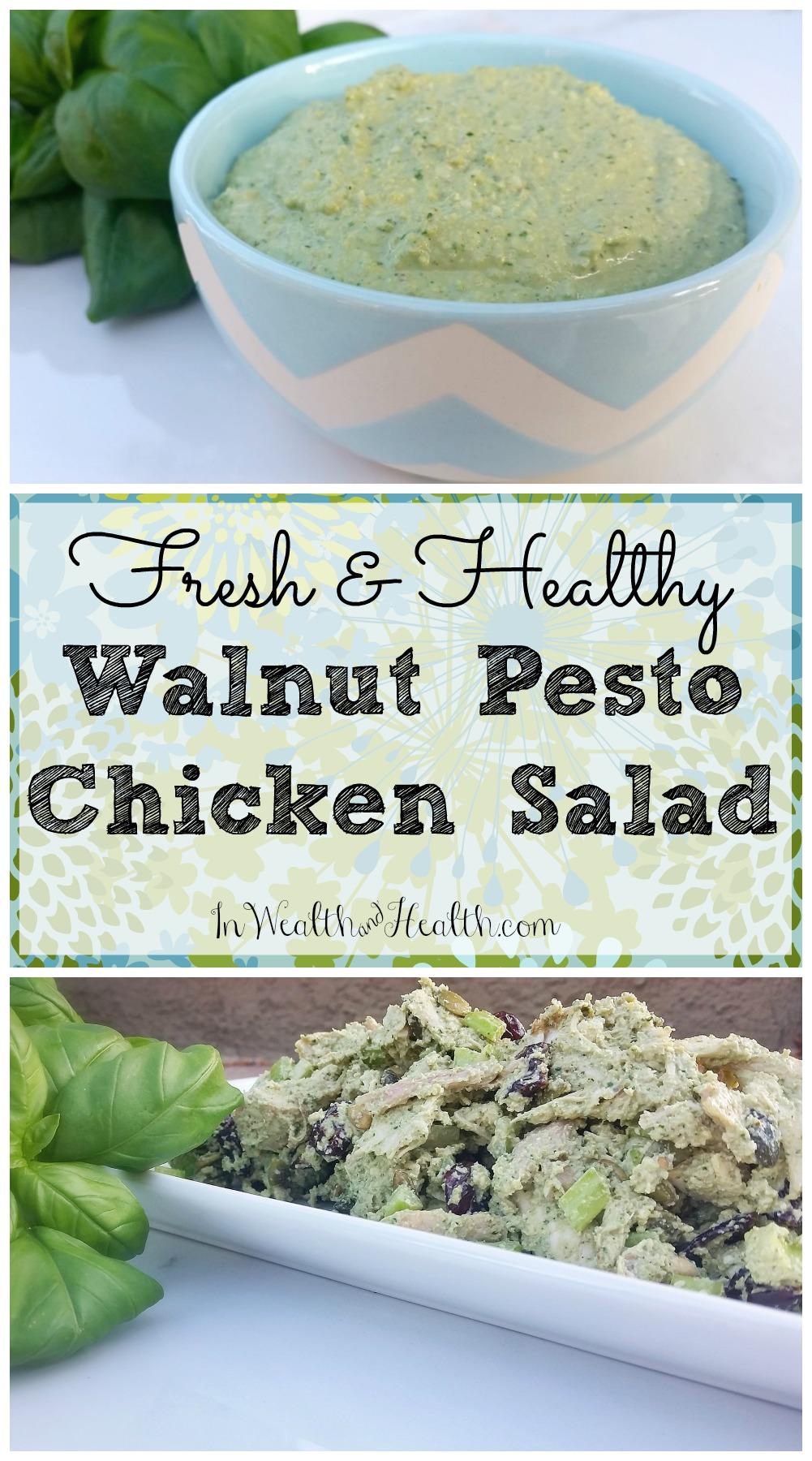 Fresh and Healthy Walnut Pesto Chicken Salad 2