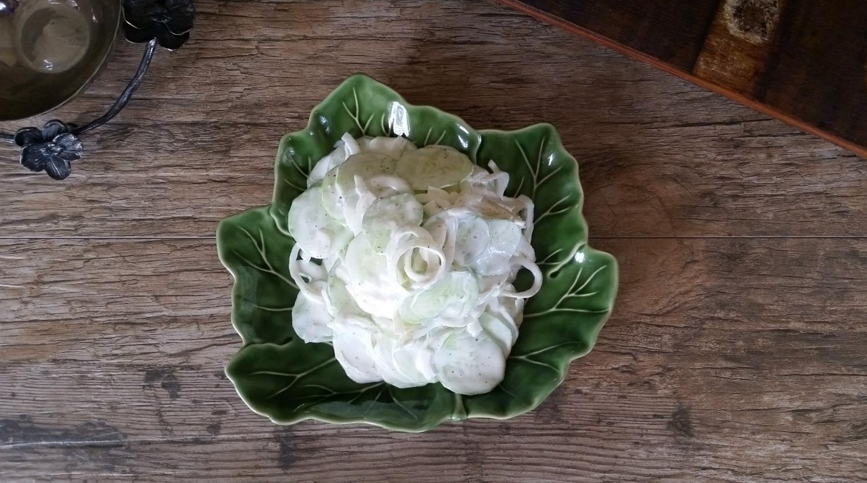 Creamy Cucumber & Onion Salad | In Wealth & Health @HappyHelthyRD
