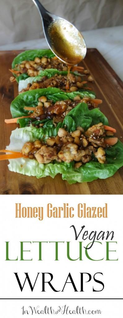 Asian-Inspired #Vegetarian Lettuce Wraps with Honey Garlic Glaze @HappyHealthyRD #vegan