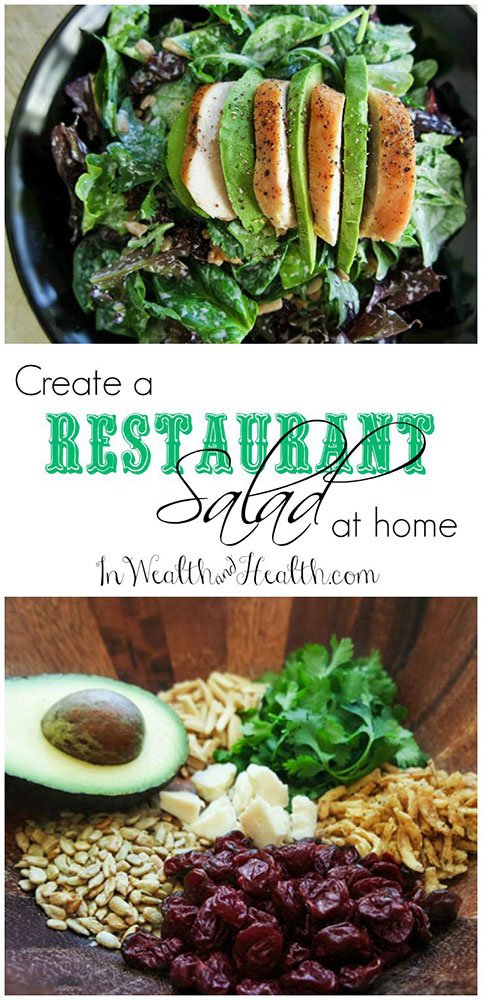 Create a restaurant worthy #salad with this easy formula. Salad ingredients you just can't afford not to add!