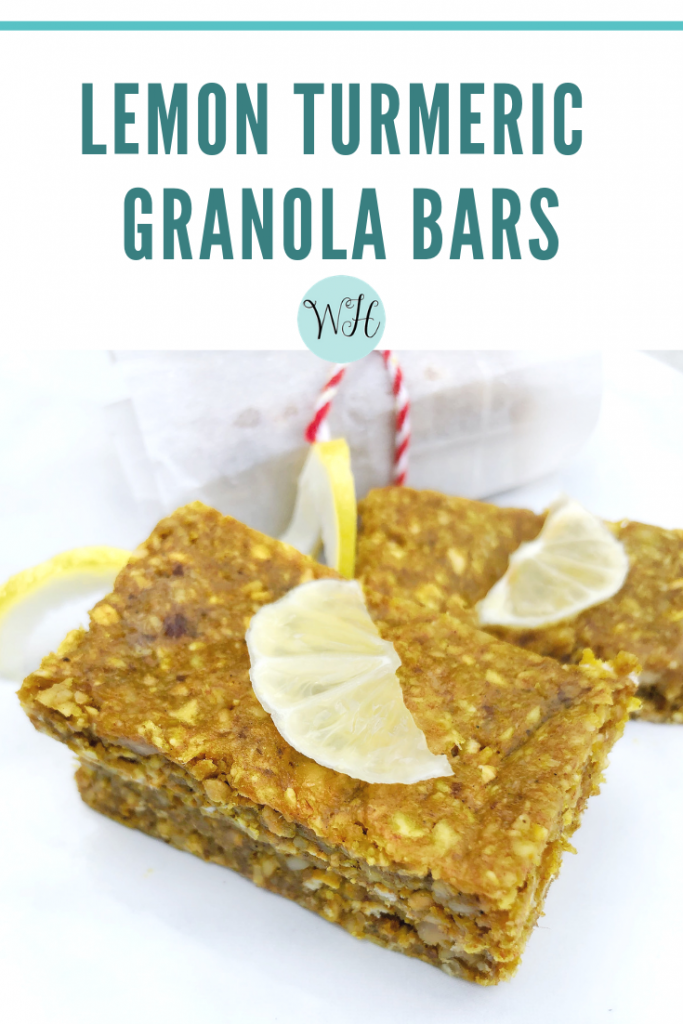 Lemon Turmeric Granola Bar