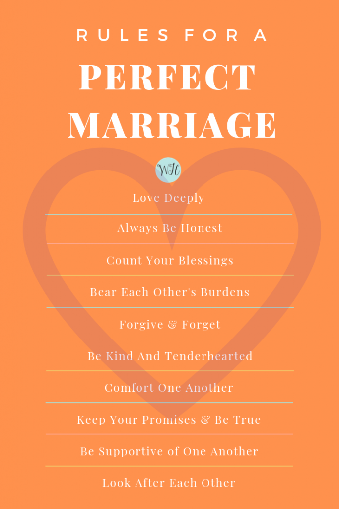 Rules for a perfect marriage